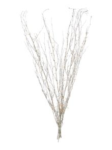 Silver glitter twig light
