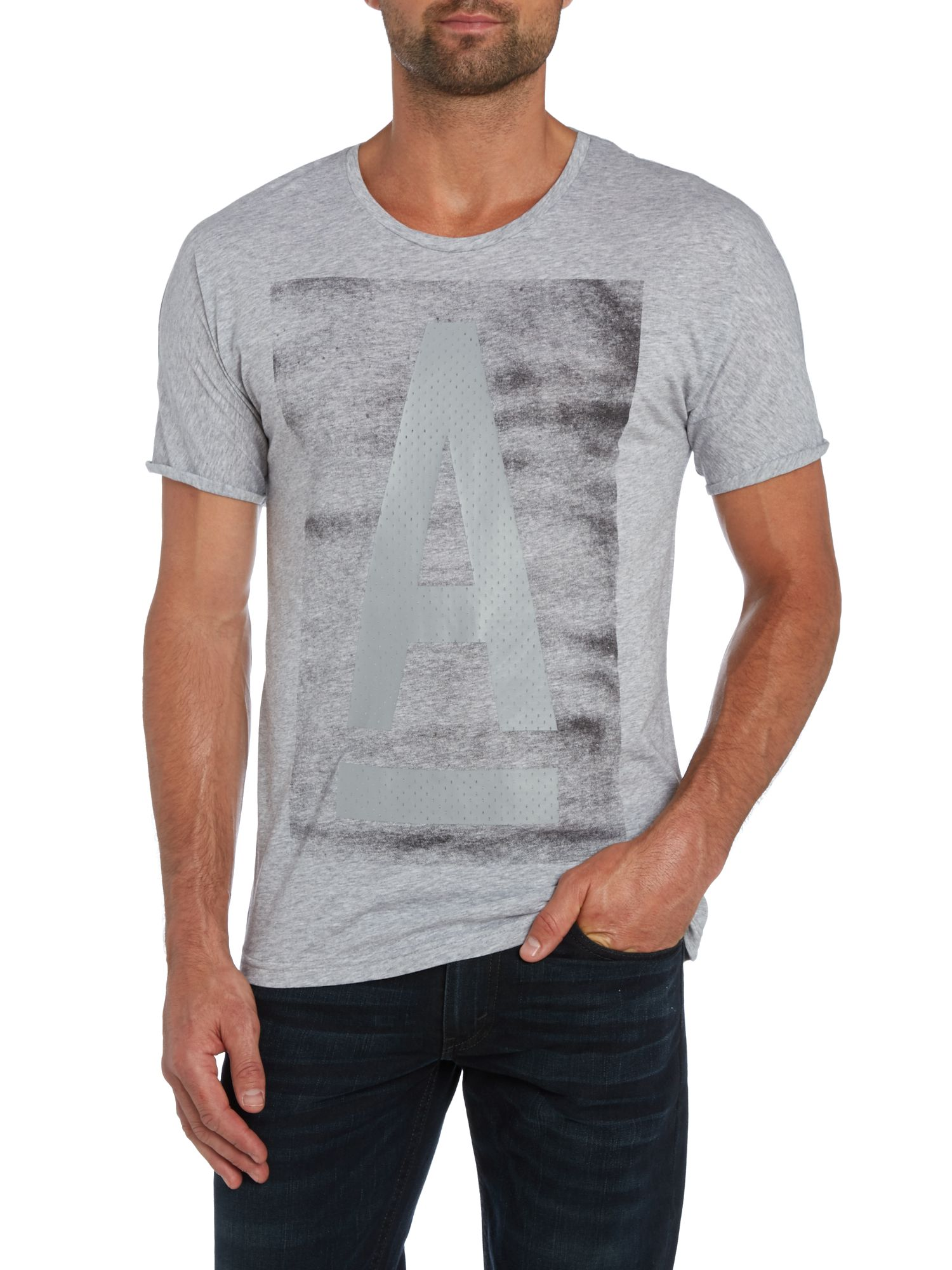 Raw graphic A print t shirt