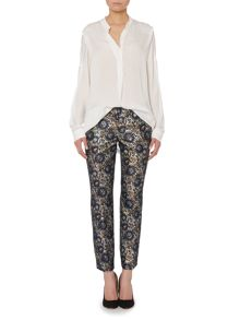 Again printed straight leg trouser