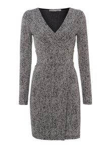 Marella Trapani 3/4 sleeved wrap dress