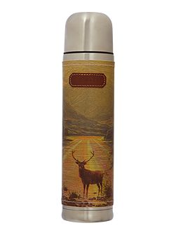 Stag print flask
