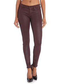 The Skinny coated jeans in Port