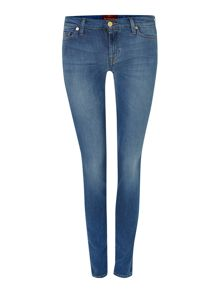The Skinny silk touch jeans in Mid Indigo