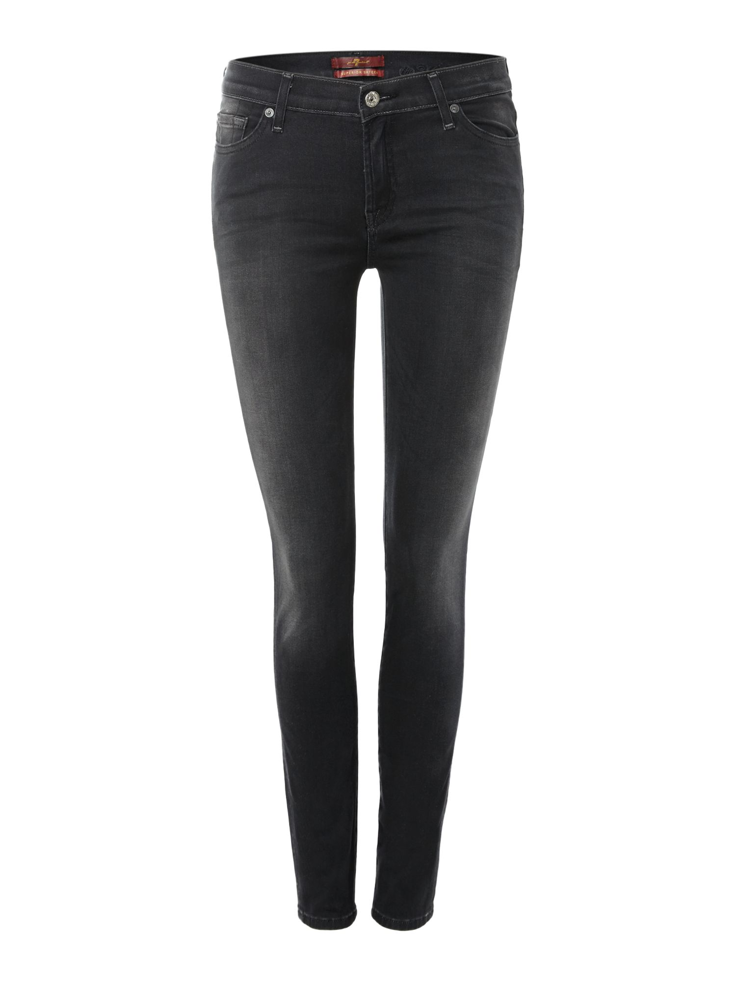 The skinny sateen in black