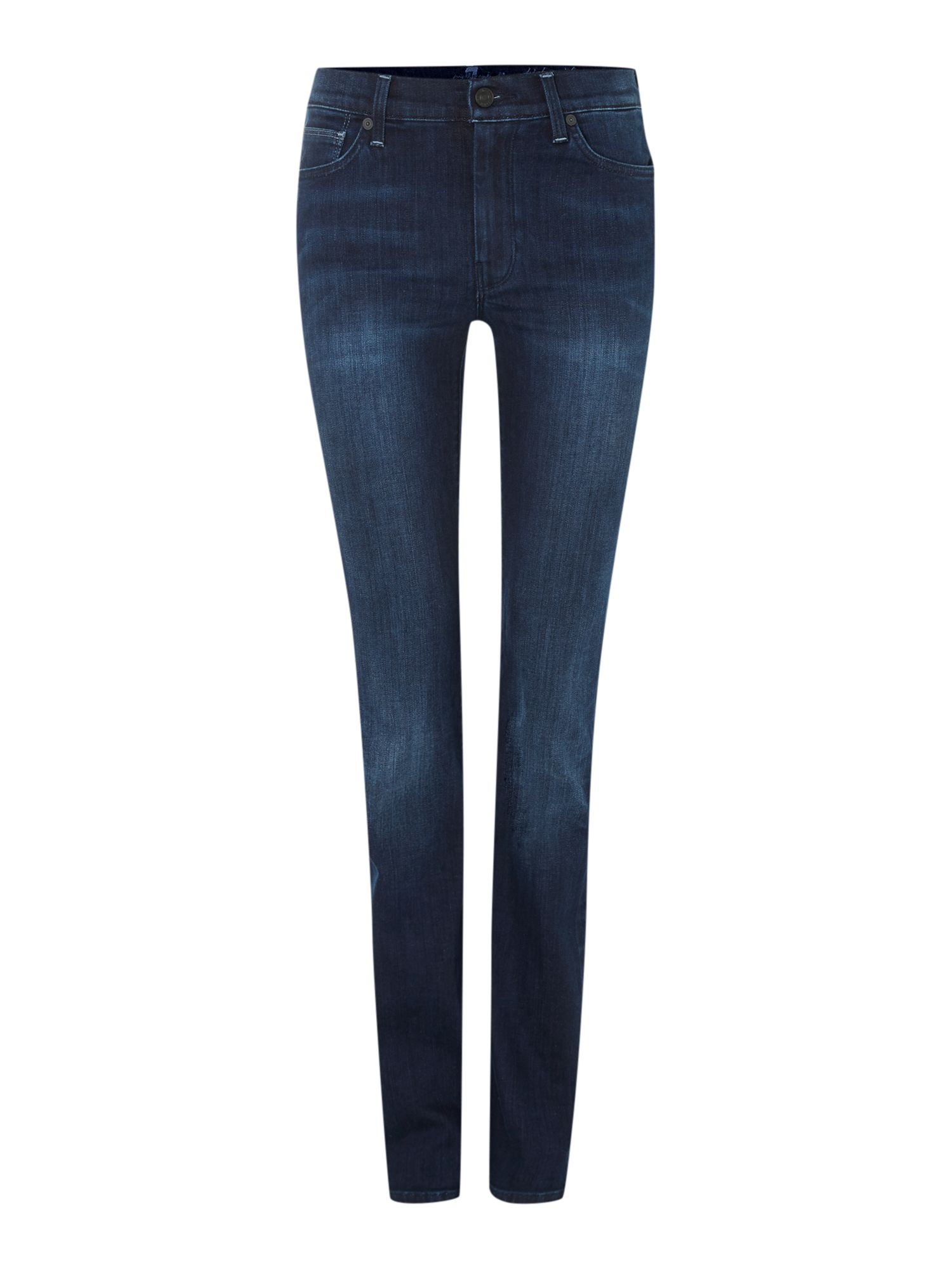 High waist straight leg in twilight indigo