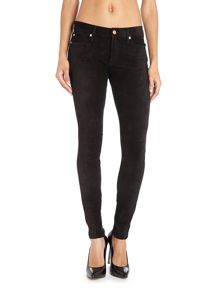 The Skinny suede effect jeans in Black
