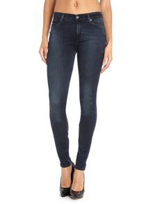 High-waist skinny jeans in Dark Indigo