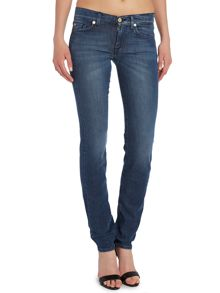Roxanne slim leg silk touch jeans in Dark Indigo