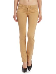 Roxanne slim leg silk touch jeans in Tobacco