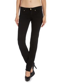 Roxanne slim leg silk touch jeans in Black