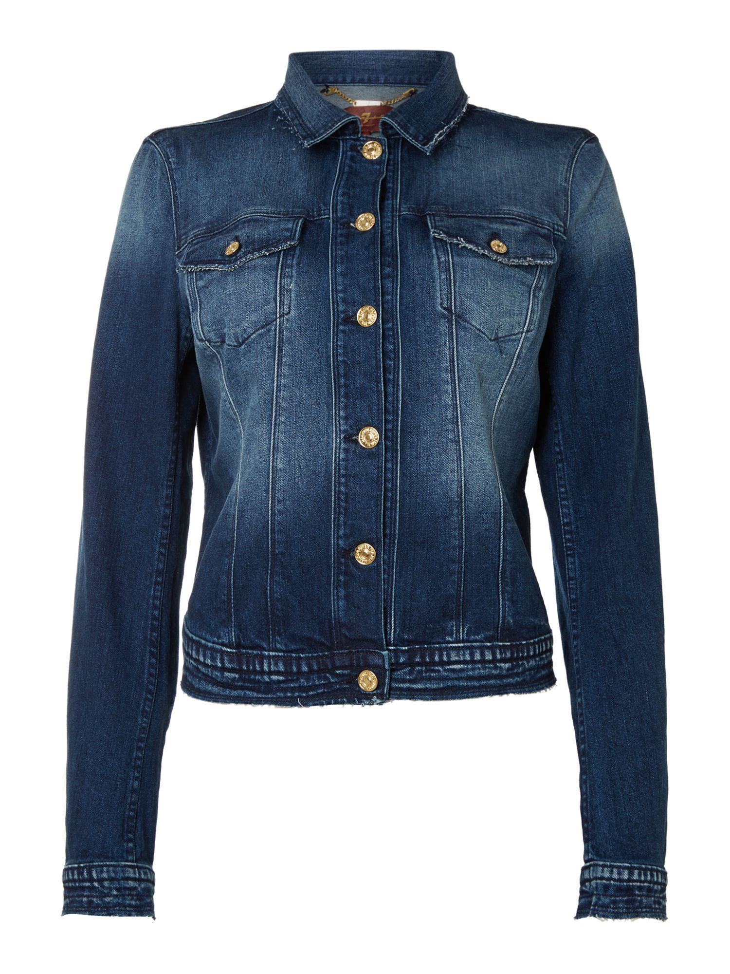 Classic denim trucker jacket in cosmic blue