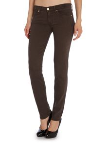 Roxanne slim leg silk touch jeans in Chocolate