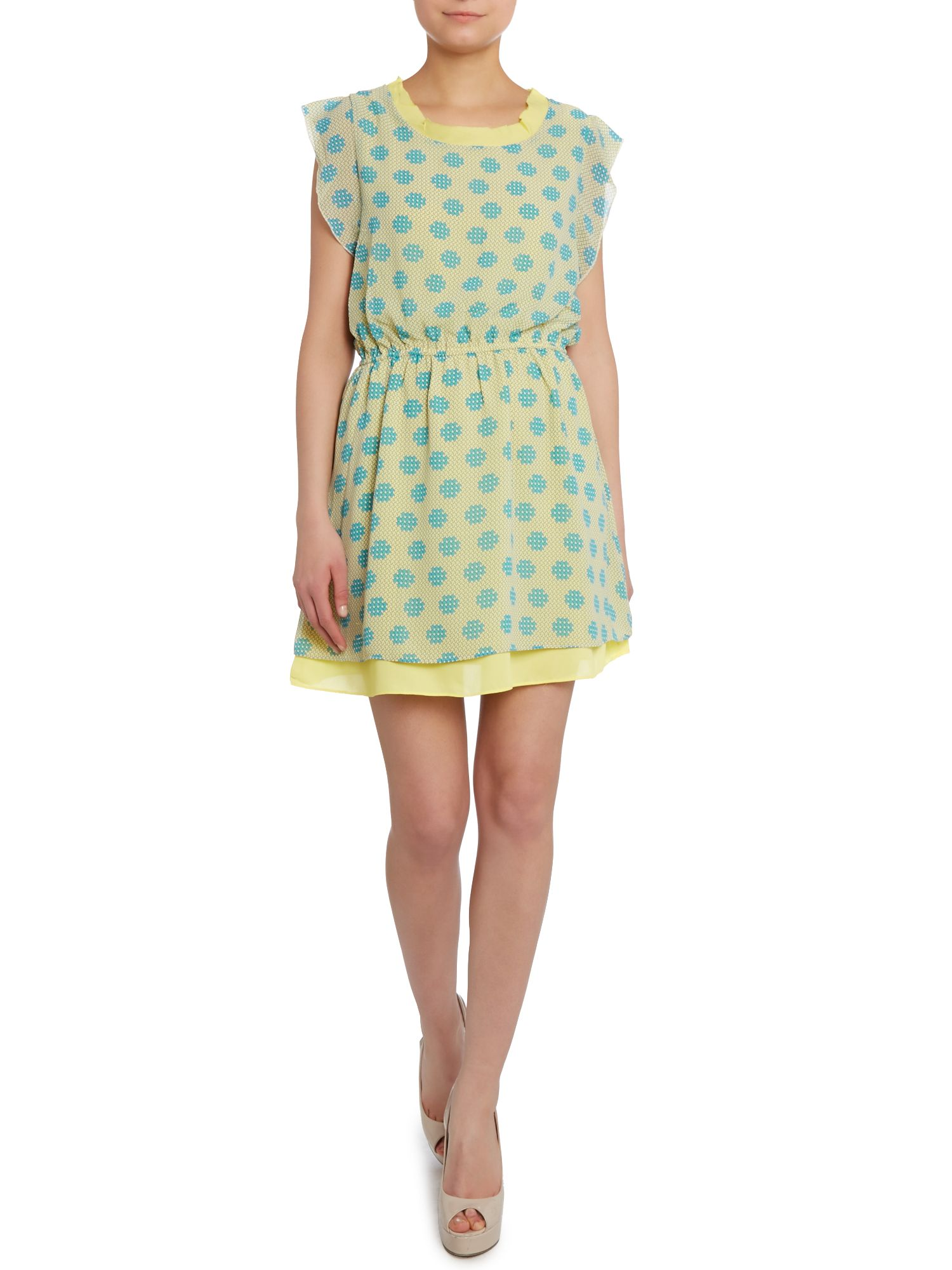 Pastel pixel print dress