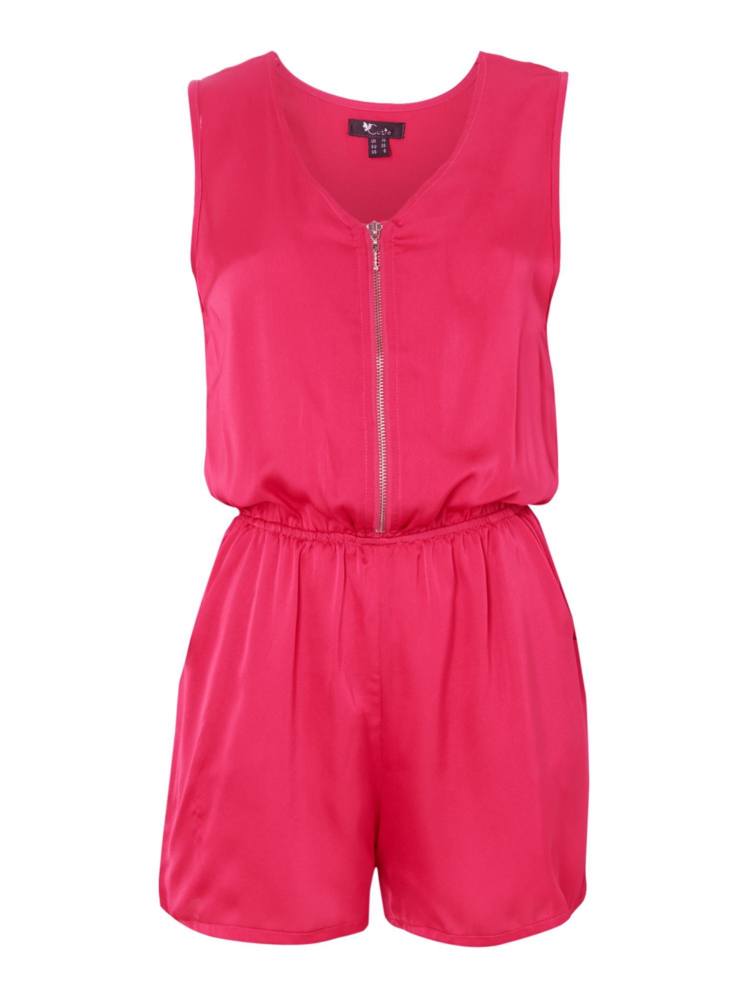 Bold colour playsuit