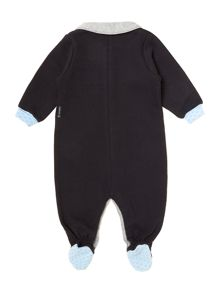 Baby boys knitted all-in-one with collar