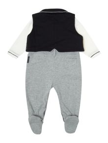 Baby boys all-in-one mock outfit giftbox