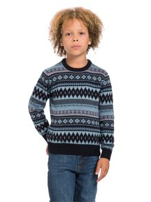 Boys fairisle knit jumper