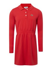 Girls small croc polo dress