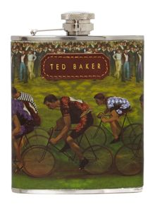Bike print hip flask