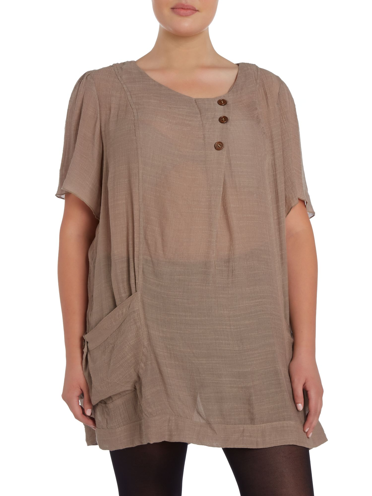 Decorative button tunic top