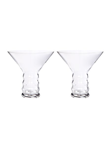 Riedel O, stemless martini glass set of 2