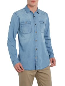 Roll sleeve denim shirt