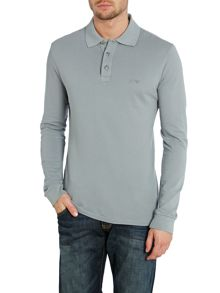 Armani Jeans Muscle fit Long Sleeve Logo Polo Shirt