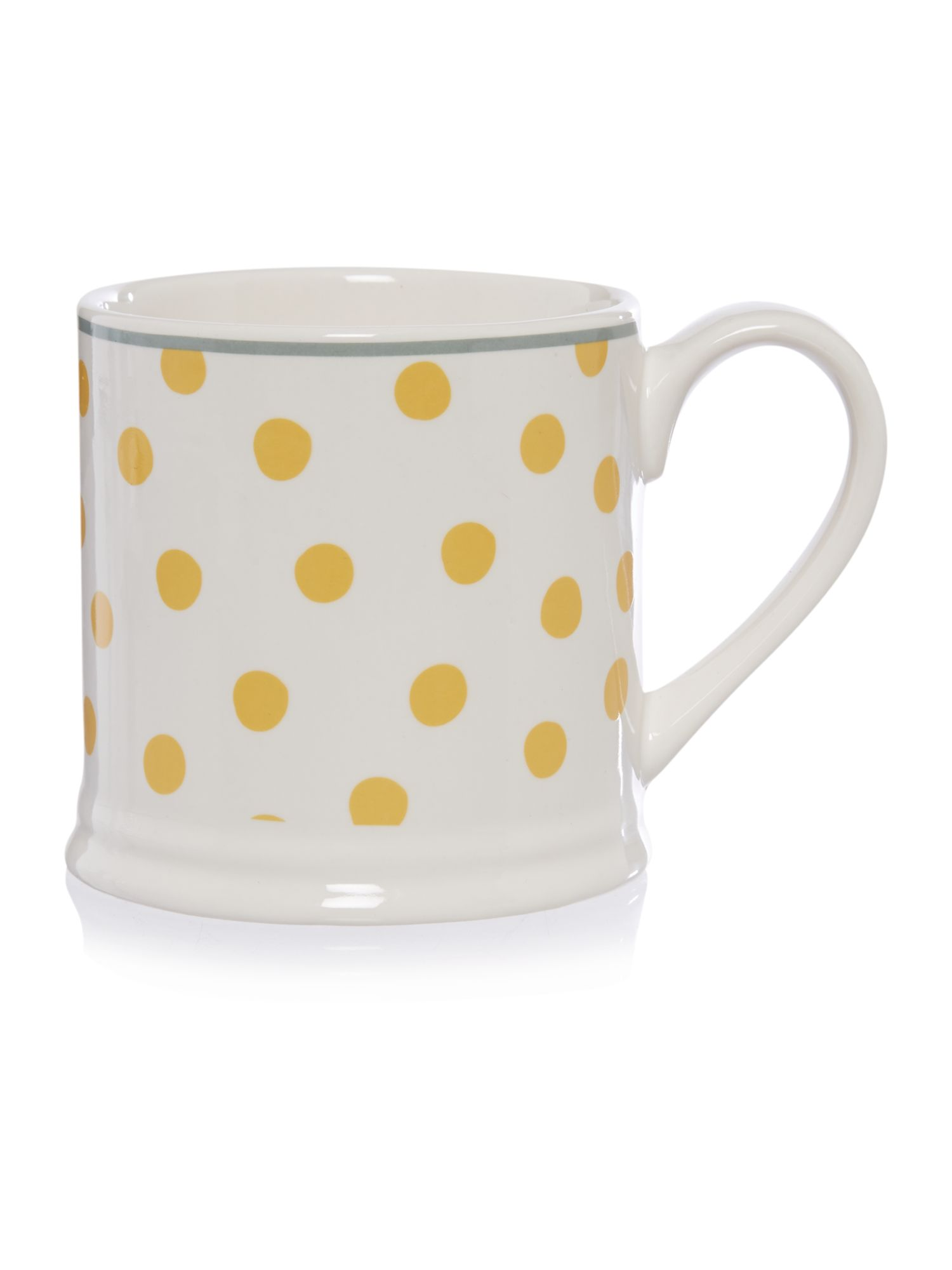 Yellow polka dot mug