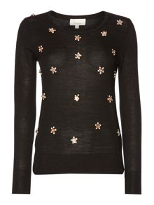 Embellished detail jumper
