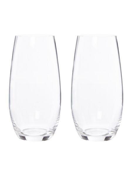 O, stemless champagne glass set of 2