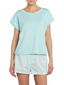 Marina s/s cropped pj top