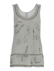 Lake bead and embroidered top