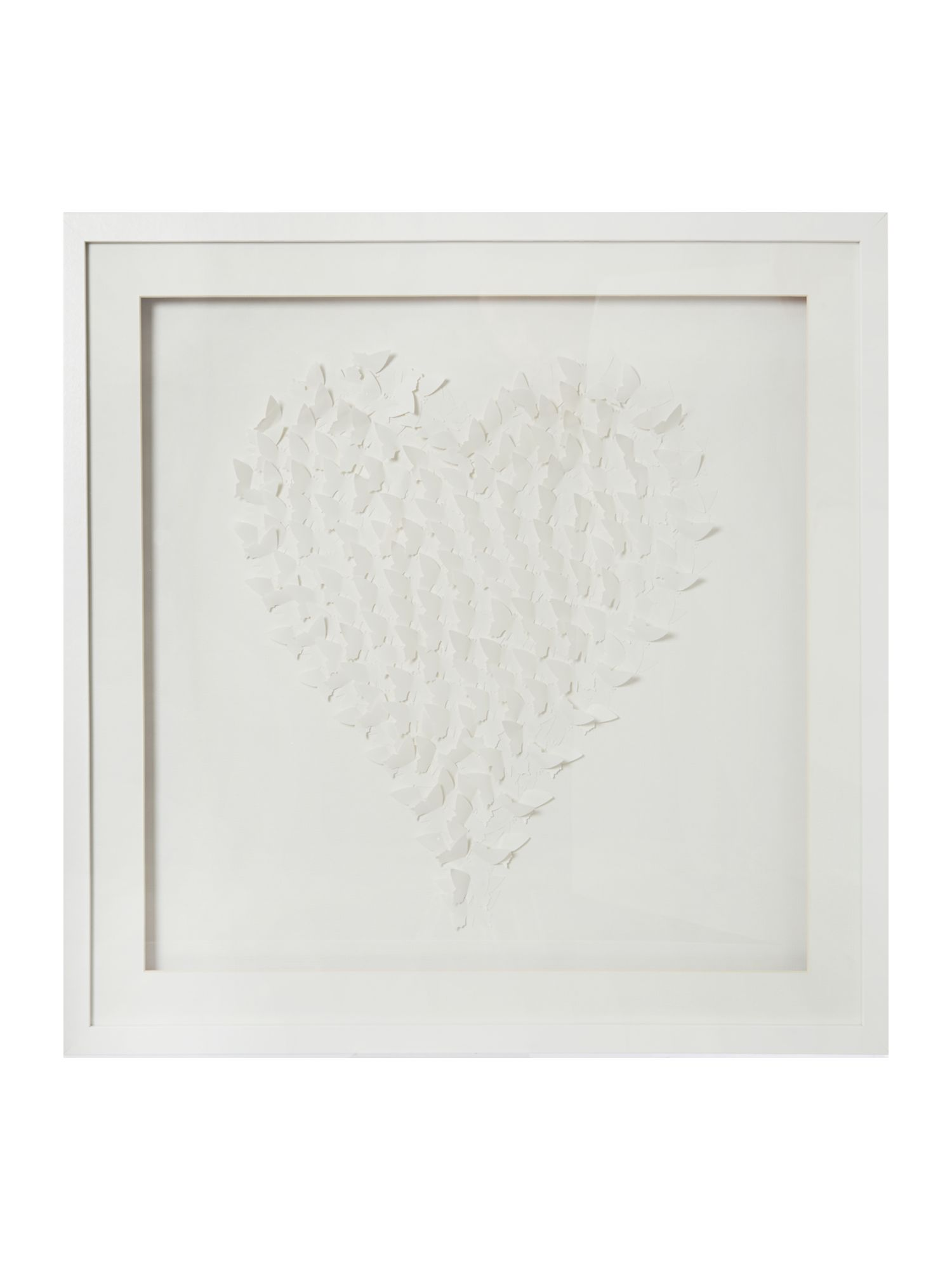 White 3D butterflies wall art