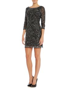All over sequin shift dress