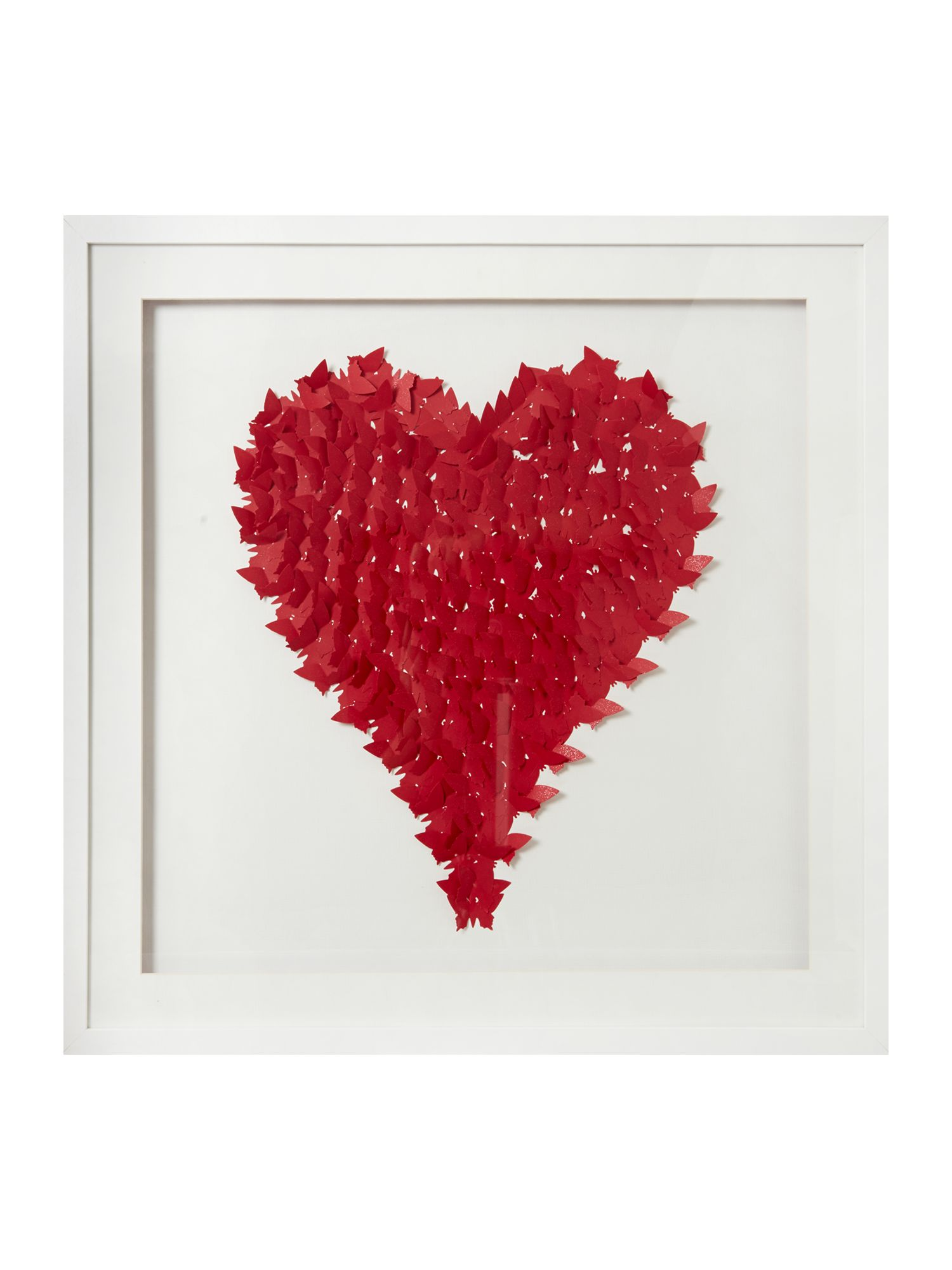 Red love heart wall art