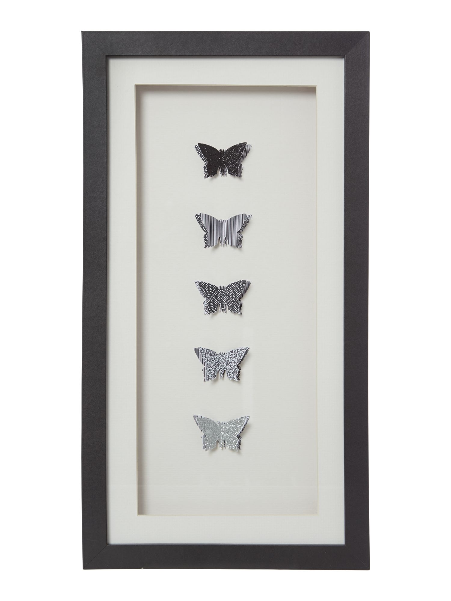 midnight butterflies wall art