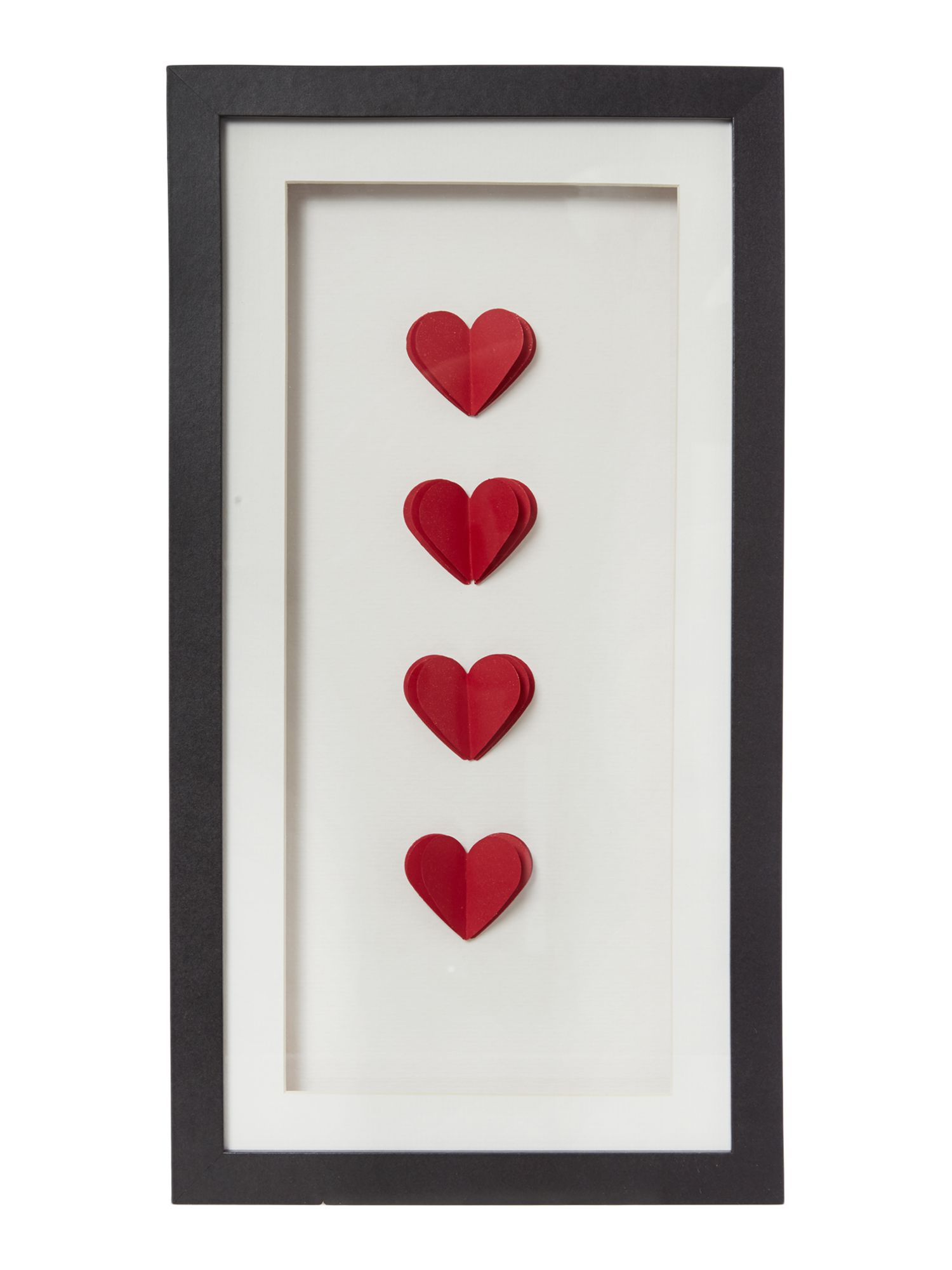 Love heart red wall art
