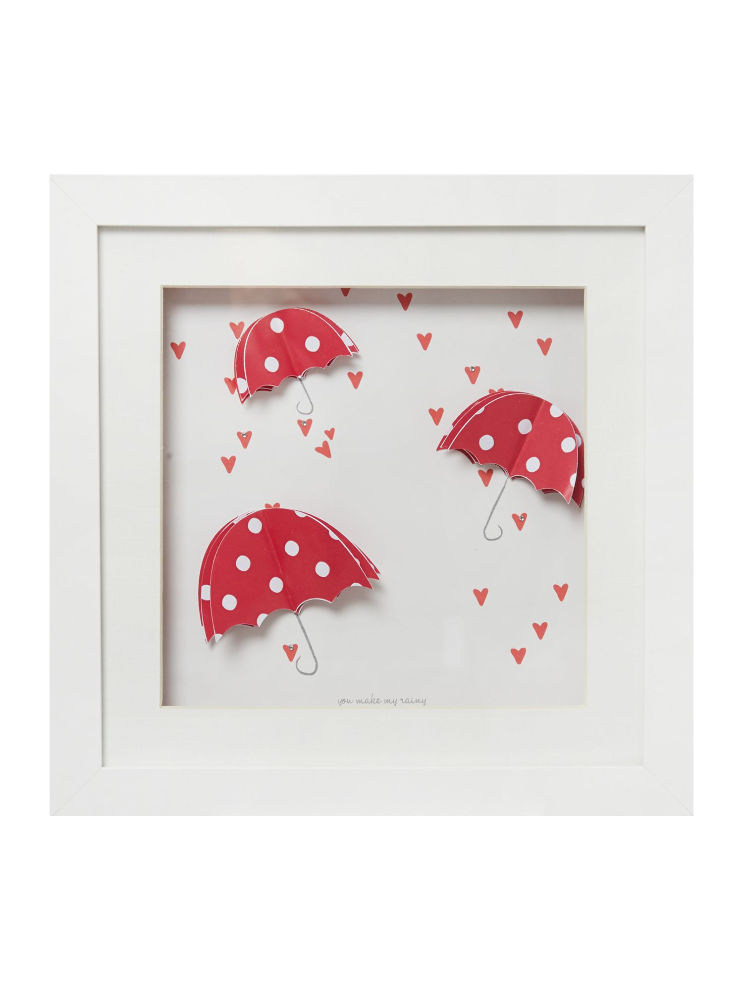 Red rose Umbrella wall art