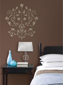 Nouveau damask wall stickers