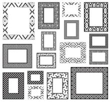 Black & White Enamel Frame wall stickers