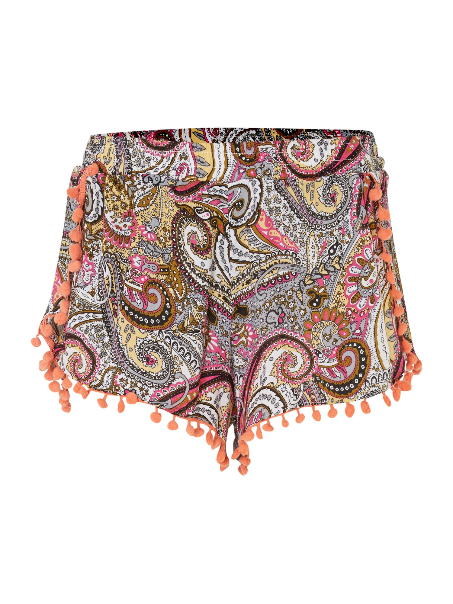 Printed wrap details shorts