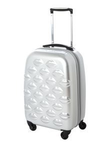 Lulu lips silver 4 wheel hard cabin case