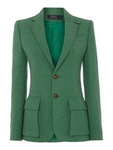 Long sleeved boyfriend wool blazer