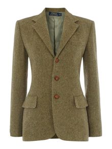 Long sleeved wool jacket