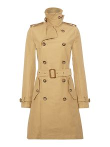 Slim fit classic trench coat