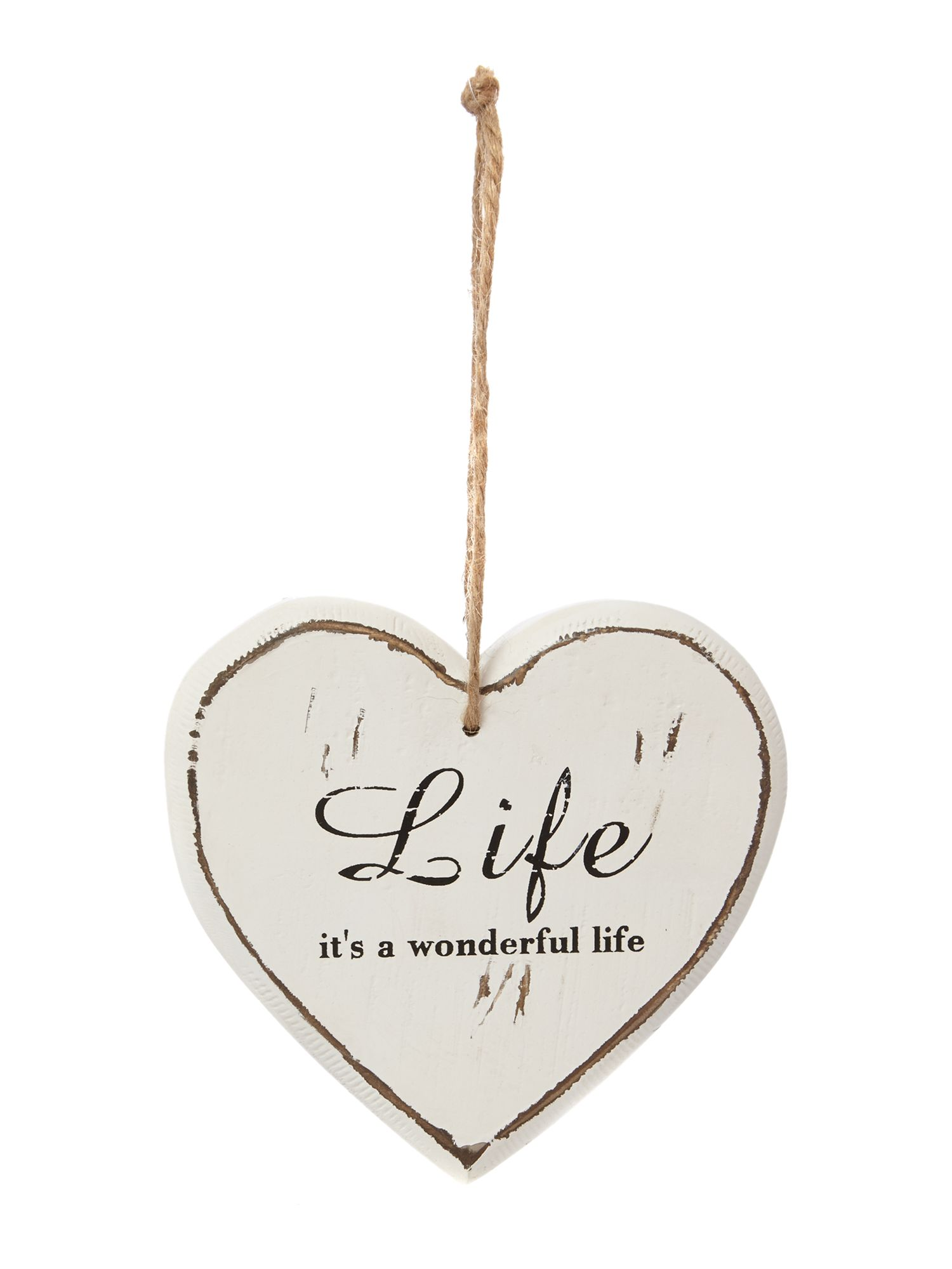 Wonderful Life Hanging Wall Heart