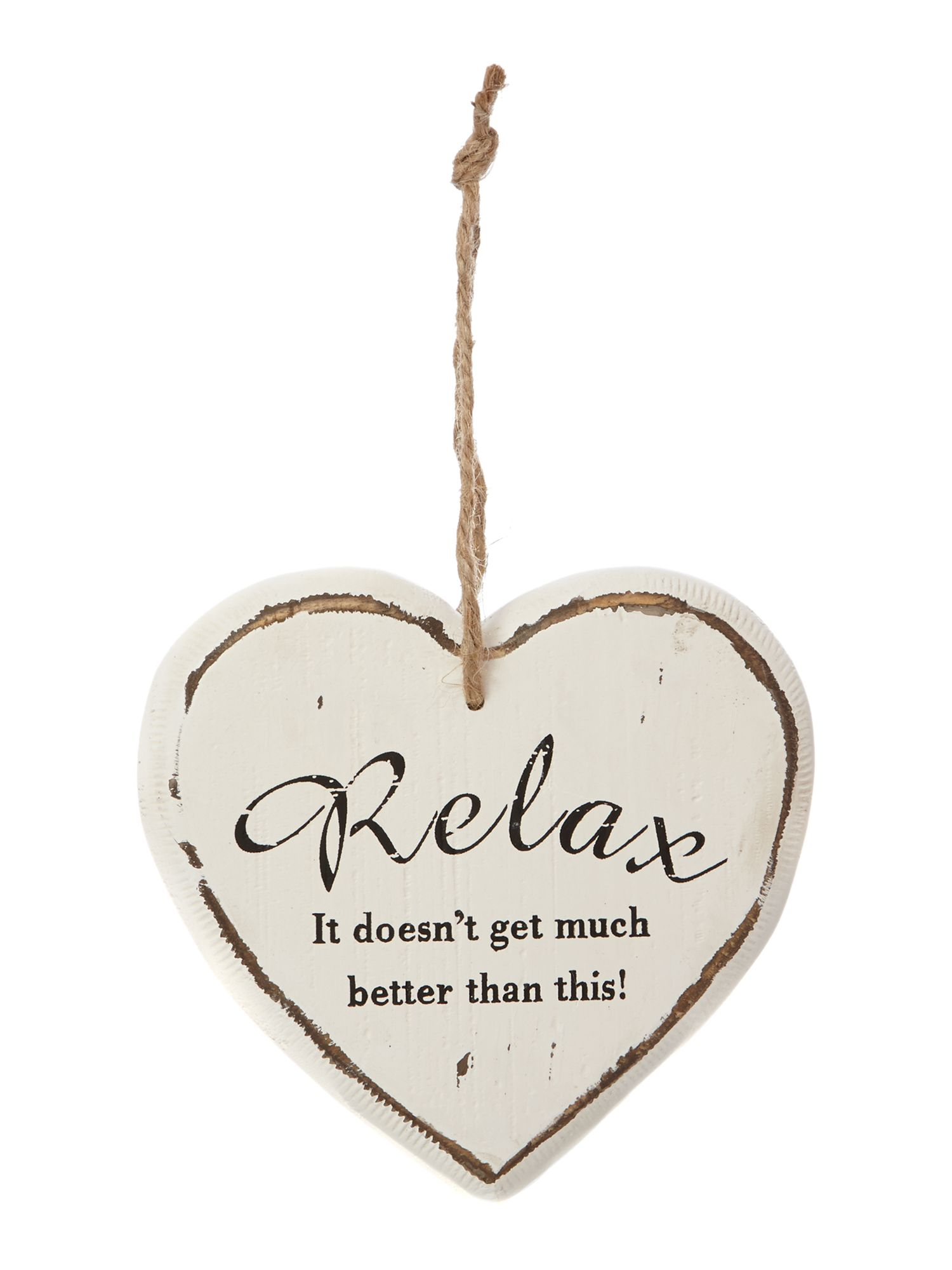 Relax Hanging Wall Heart