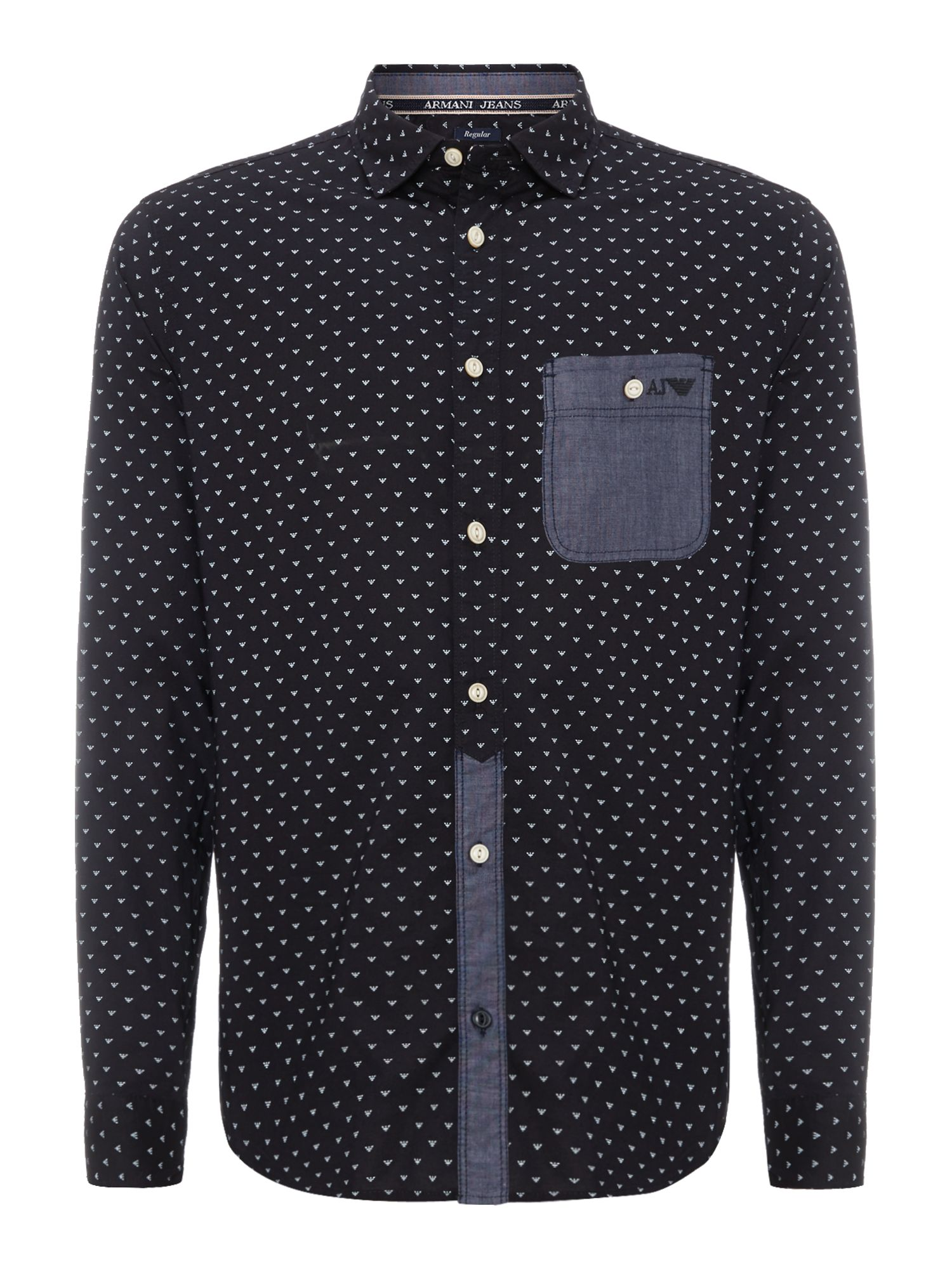 All over logo print shirt