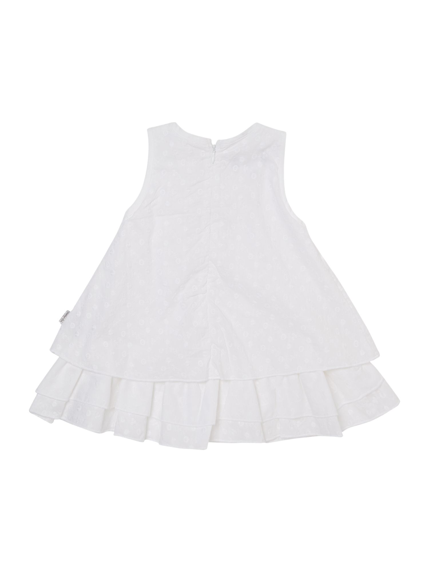 Girls broderie layered dress