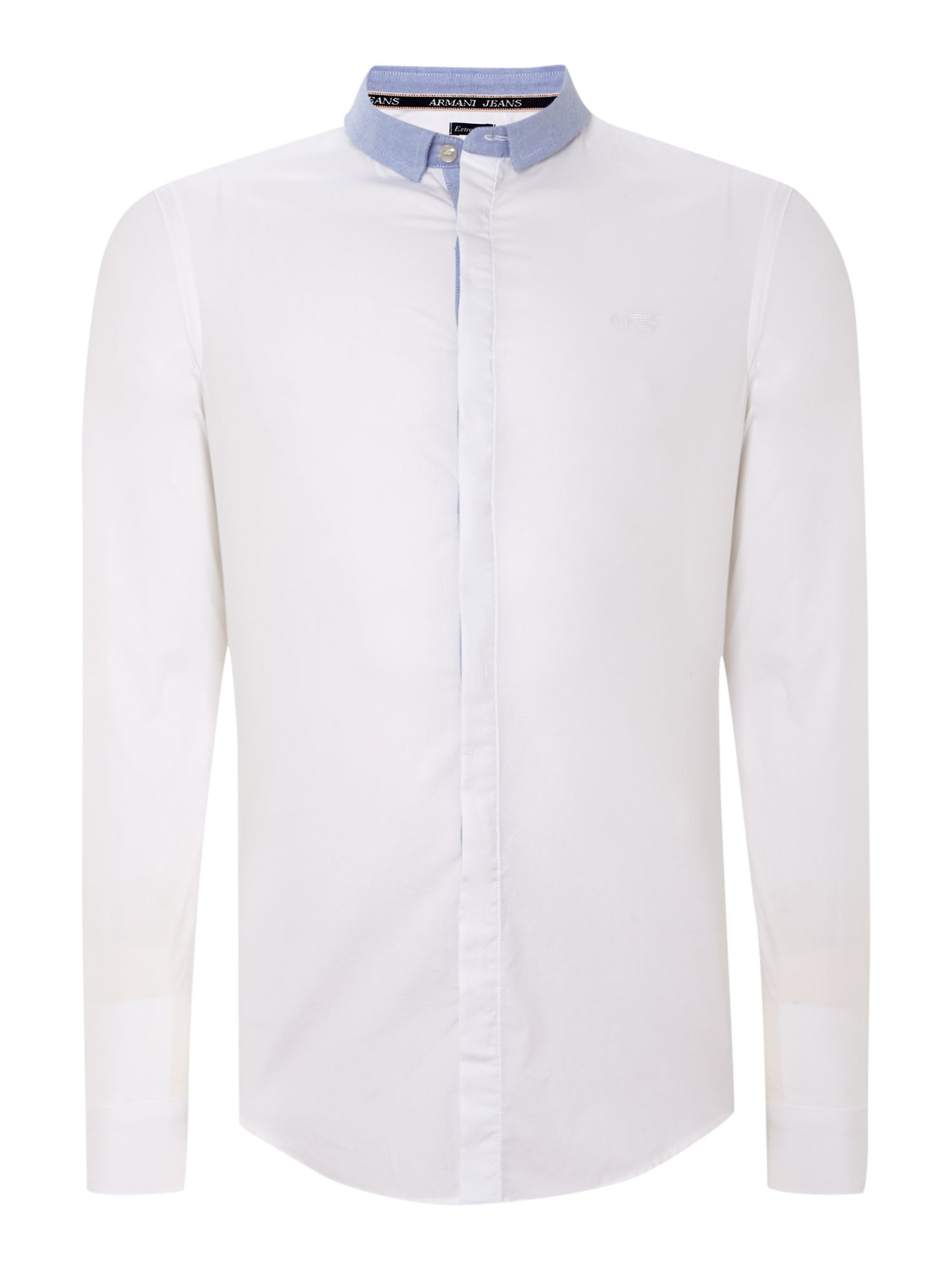 Contrast collar oxford shirt